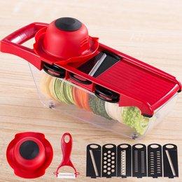 Affettatrice cucina più online-8 Pz / set Frutta Verder Nicer Slicer Plus Chopper Cutter Peeler Verdura Frutta Grattugie Peeler Cutter Affettatrice Taglio Utensile Da Cucina