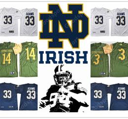 Wholesale Football 14 - NEW NCAA Notre Dame Fighting Irish College Adams STITCHED JERSEY FOOTBALL SPORT HOT 2018 3 Joe Montana 14 DeShone Kizer