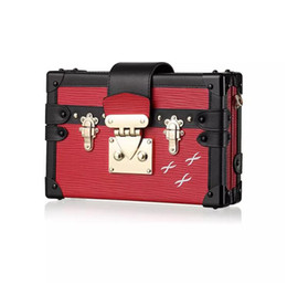 Monedero vintage online-Bolso monedero caja del tronco de pequeño acrílico Día de la tarde del embrague del monedero del estilo de las mujeres del diseñador del bolso de cuero