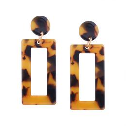 orecchino maxi Sconti Orecchini a goccia romantici caldi di stile etnico per le donne Regalo di nozze Orecchini di resina tartaruga orecchini di bambù Maxi gioielli regalo elegante