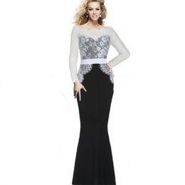 Wholesale maxi formal dress - Sexy Mermaid Dresses Long Lace Prom Dresses Elegant Vintage Women Patchwork Formal Ball Evening Party Maxi Dress Vestidos Plus Size