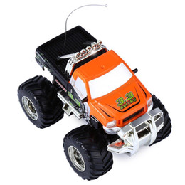 Wholesale Nitro Electric Cars - Wholesale- 2016 Brand New 8013D Big Wheel RC Off-road Car SUV Electric ORV Vehicle Model Toy Driving Car Double Motors Drive Toy