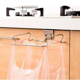großhandel stahlfallen Rabatt Wholesale-2016 Umweltfreundliche Neuheit Küchenschrank Schublade Tür Abfallbehälter Ständer Schrottfalle Aufbewahrungsbox Schüssel Mülleimer Edelstahl WB08