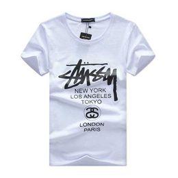 Wholesale Free Designer Clothes - New 2018 Mens Summer Tees Plus Size Shirt Short Sleeve t shirt Printed Cotton T-shirt Men Designer Clothing Free shipping