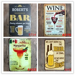 Wholesale vintage items - Hot 50pcs Beer Pratice Here Metal Sign PUB Home Hotel Decoration Vintage Painting Wall Poster Art 20*30 CM Mix Items