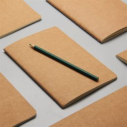 Wholesale Business Memo Pads - Travel diary stationery blank notepad leather book copybook Vintage soft daily memo pad of paper kraft paper notebook for students
