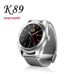 2019 tariffe cellulari K89 Smart Watch con frequenza cardiaca per iPhone Smart Bracelet LCD Display da 1,5 pollici con SIM Card Telefono intelligente per smartphone tariffe cellulari economici