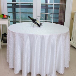 Wholesale Table Clothes For Weddings - Table cloth Table Cover round for Banquet Wedding Party Decoration Tables Satin Fabric Table Clothing Wedding Tablecloth Home Textile