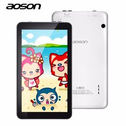 программное обеспечение для планшетов Скидка 7-дюймовый Android 6.0Aoson M753 Детский планшетный ПК IPS 1 ГБ + 16 ГБ Bluetooth WIFI с программным обеспечением для родительского контроля Силиконовый чехол подарок