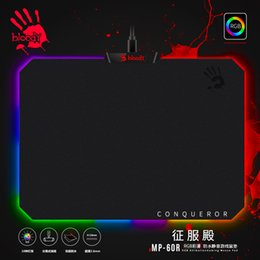 Резиновые подкладки онлайн-A4tech Bloody RGB gaming mouse pad CLOTH EDITION Ultra Slim 2.6mm waterproof Non-slip Rubber Base Detachable Cable mouse pads