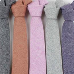 Wholesale yellow neckties for men - TAGER WILEN Brand Fashion Wool Ties Brand Popular Solid Necktie Cravats For Men Suits Tie For Wedding Business Men's Wool Tie
