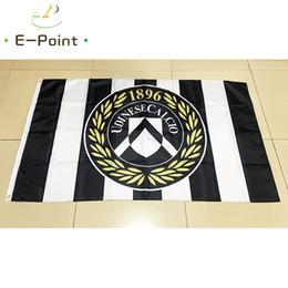 Flagge italien online-Italien Udinese Calcio S.P.A 3 * 5ft (90 cm * 150 cm) Polyester Serie A flag Banner dekoration fliegen hausgarten flagge Festliche geschenke