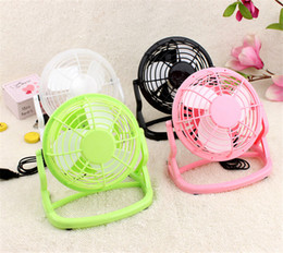 Wholesale Usb Desk Fans - Portable Plastic USB Mini Small Desk Fan 3 Blades Cooler Cooling Fan Ultra Quiet Household Fan With Four Colors Optional
