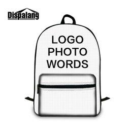 Wholesale Custom Laptops - Personalized Customize Backpack To School Children Unique Custom Schoolbags Bookbags Women Men Portable Outdoor Laptop Bags Mochila Rucksack