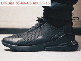 botas de mujer de cuero suave diseñador Rebajas 2019 hot AIR MAX 270 SHOES airmax maxes Triple Black 270s white Tiger Running Shoes olive Training Outdoor Sports air sole cushion Mens Trainers Zapatos Sneakers