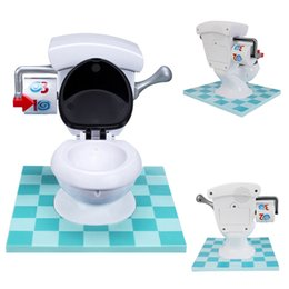 Wholesale Plastic Toy Toilets - Anti Stress Game Joke Toy Novelty Finger Toys Water Spray Toilet Trouble Game For Family Party Washroom Children Gift