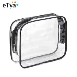 Wholesale wholesale pvc free makeup bags - Environmental Protection PVC Transparent Cosmetic Bag Women Travel Make up Toiletry Bags Makeup Organizer Case Free Shipping