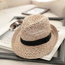 2019 mens breite brutalsommerhüte Mode Sommer Strand Sonne Strohhut Frauen Mens Fedora Breiter Krempe Trilby Panama Cap F05