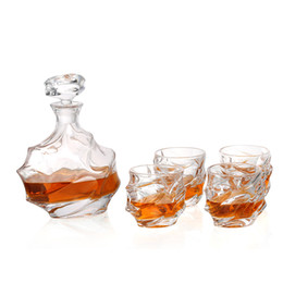 Wholesale Decanter Box - #25 Whisky Glass 1 Set 1 Pcs Glass Bottle Decanters 750 Ml UPS Express 6 Pcs Cup High Quality Safety Box