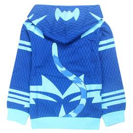 Novedad Otoño Niños catboy cosplay superhéroe Jeckets de dibujos animados bebés niños Niñas Chaquetas Niños Casual Sudaderas Con Capucha Abrigo ropa para niños desde fabricantes