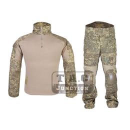 Camicia uniforme tattica online-G2 Combat Shirt Pantaloni Top + Pantaloni w / Gomitiere Set ginocchiere Tactical EmersonGear GEN 2 BDU Uniforme