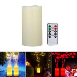 2019 projetores de vela LED Sem Chama Velas Padrão de Projeção Luzes de Controle Remoto luzes led Romântico Umbriferous Projector Lâmpada de Humor para decoração de Casamento projetores de vela barato