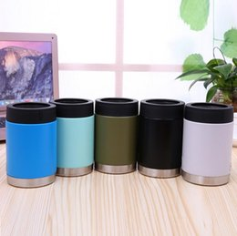 Wholesale Black Tumblers - Spray 12oz Mugs Vacuum Insulated Tumbler Mugs Insulated Stainless Steel Car Beer Cup Beer Mugs DHL free shipping Drinkware