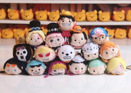 Bonecas de pelúcia de uma peça on-line-Nova Tsum Tsum Japão Anime One Piece Tony Tony Chopper Luffy Mini Boneca de Brinquedo De Pelúcia Crianças Coleção de Presente de Natal de Aniversário