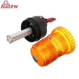 Wholesale Amber Flashing Beacon - 1Pcs LED Rotating Flashing Amber Beacon Flexible Strobe Warning Light Daytime Lamp 10-110V for Car Truck vehicle