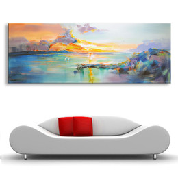 Wholesale Knife Landscape Paintings - Calligraphy painting Hand painted Abstract Modern Wall Painting most beautiful art knife oil painting On Canvas Home Decoration YYS-001