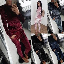 8245042c48cc женская спортивная одежда велюровые брюки с капюшоном Скидка 5 цветов 2018  зимний спортивный костюм Женская одежда