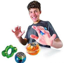 Wholesale Halloween Finger Lights - Cute Halloween Fingertips Magnetball Induction Magnetic Ball Finger Decompression Magic Magnetic Ball Dazzling Light Battle Finger WJ 005