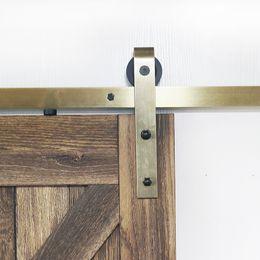 Kit di ferramenta per porte scorrevoli con fienile scorrevole in ottone finitura oro cheap sliding door track hardware da hardware scorrevole porta pista fornitori