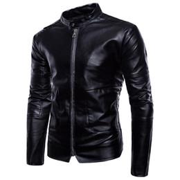 Nuova pelle da uomo per la primavera nuova giacca in pelle di grandi dimensioni stile europeo e americano in pelle nera --99 supplier leather jacket black men xl size da rivestimento di cuoio nero uomini xl formato fornitori
