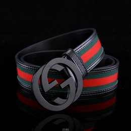 Wholesale G White Belts - 2018 Hot 2 colors Mens Belts Luxury High Quality Designer Belts For Men And Women styles G optional attribute for gift