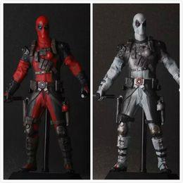"Wholesale crazy action figures - Crazy Toys Deadpool PVC Action Figure Collectible Model Toy 12"" 30cm red   sliver"
