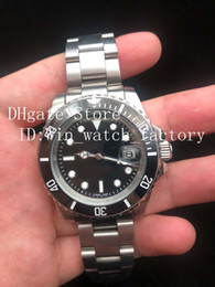 Wholesale stainless steel self - Black luxury Ceramic Bezel Mens Mechanical Stainless Steel 116610 116613 Automatic Movement Watch Sports Self-wind Watches Wristwatch