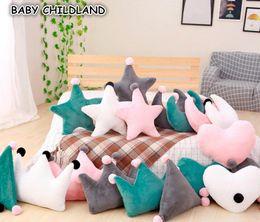 Travesseiros decorados on-line-Almofada do bebê Decore Crianças Crianças Decoração do quarto Almofada Decoração do quarto do bebê Estrela da lua Super Macio Almofadas decorativas almofadas do sofá