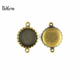 Wholesale Vintage Jewelry Connector - BoYuTe (60 Pieces Lot) 14MM Vintage Style Zinc Alloy Beer Bottle Connectors Charms Pendants for Diy Jewelry Making Accessories