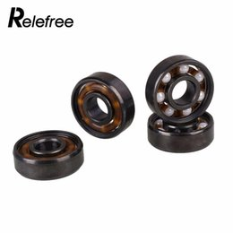 Wholesale Roller Bearing Wheels - 8 pcs 608 Ceramic Inline Wheels Bearing For Finger Spinner Skateboard Skate Roller
