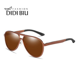 military sunglasses brands Promo Codes - Polarized Military Men Sunglasses Brown Aluminum Driving Goggle Glasses Male Brand Mirror Shades Driver High Quality UV400 HN1036