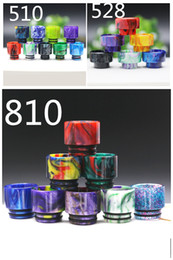 Wholesale colorful bears - Colorful 510 528 810 thread wide bore epoxy resin drip tips mouthpiece cap cigarette holder for TFV8 TFV12 tank 528 Goon RDA