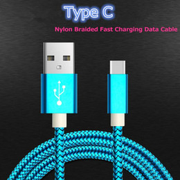 Wholesale Huawei Phone Housing - Metal Housing USB Type C Data Charger Cable Nylon Braided 2.0A Quick Charge Cable for Samsung Huawei Xiaomi LG Android Phone