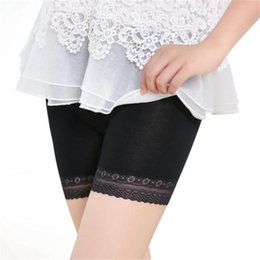 Wholesale Tiered Pants Wholesale - Fashion Women Lace Tiered Skirts Short Skirt Under Safety Pants Underwear shorts