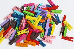 100 pçs / lote Colorido bonito pequeno clipe de madeira mini clipes de madeira 3.5 * 0.7 cm pinos para pendurar roupas papel foto mensagem cartões de artesanato de Fornecedores de ferramenta de cozinha abacaxi