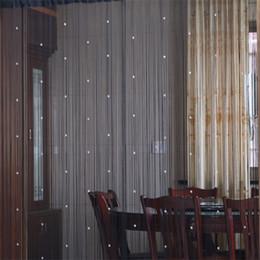 cortinas para el hogar diseños Rebajas Sala de partición Ventana Cortinas Cuentas de cristal Decoración del hogar Cortina colgante Diseño de moda original Apagón Multicolor Opcional