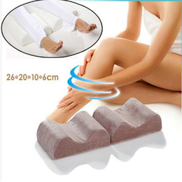 Wholesale Neck Rest Pillow - Wholesale- Knee Leg Pillow Memory Foam Pregnant For Women Slow Rebound Pain Relief Sleeping Rest Support Massage Cushion Bedding Pillows