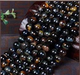Wholesale tigers eye stone sale - Hot hot sale Natural yellow blue tiger eye stone loose bead red tiger eye golden tiger eye diy semi-finished products jewelry bead