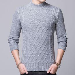 6886caee92c0 NOVA Coreano Camisola De Tricô Homens Moda Pullover Camisola Masculina Gola  Stripe Slim Fit Camisolas Dos Homens de Malha Homem Homem de Pulôver à venda