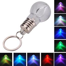 lanterna clara Desconto Criativado Mudança Colorida LED Lanterna Luz Mini Lâmpada Lâmpada Cadeia Chave Clara Lâmpada Tocha Chaveiro Novidade Presente de Natal